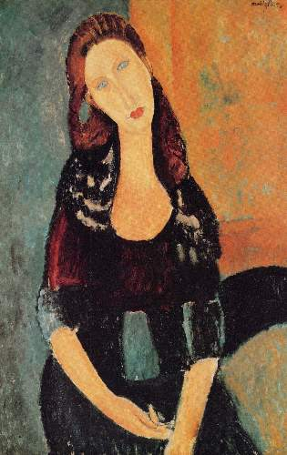 Modigliani - Portrait of Jeanne Hebuterne [6]